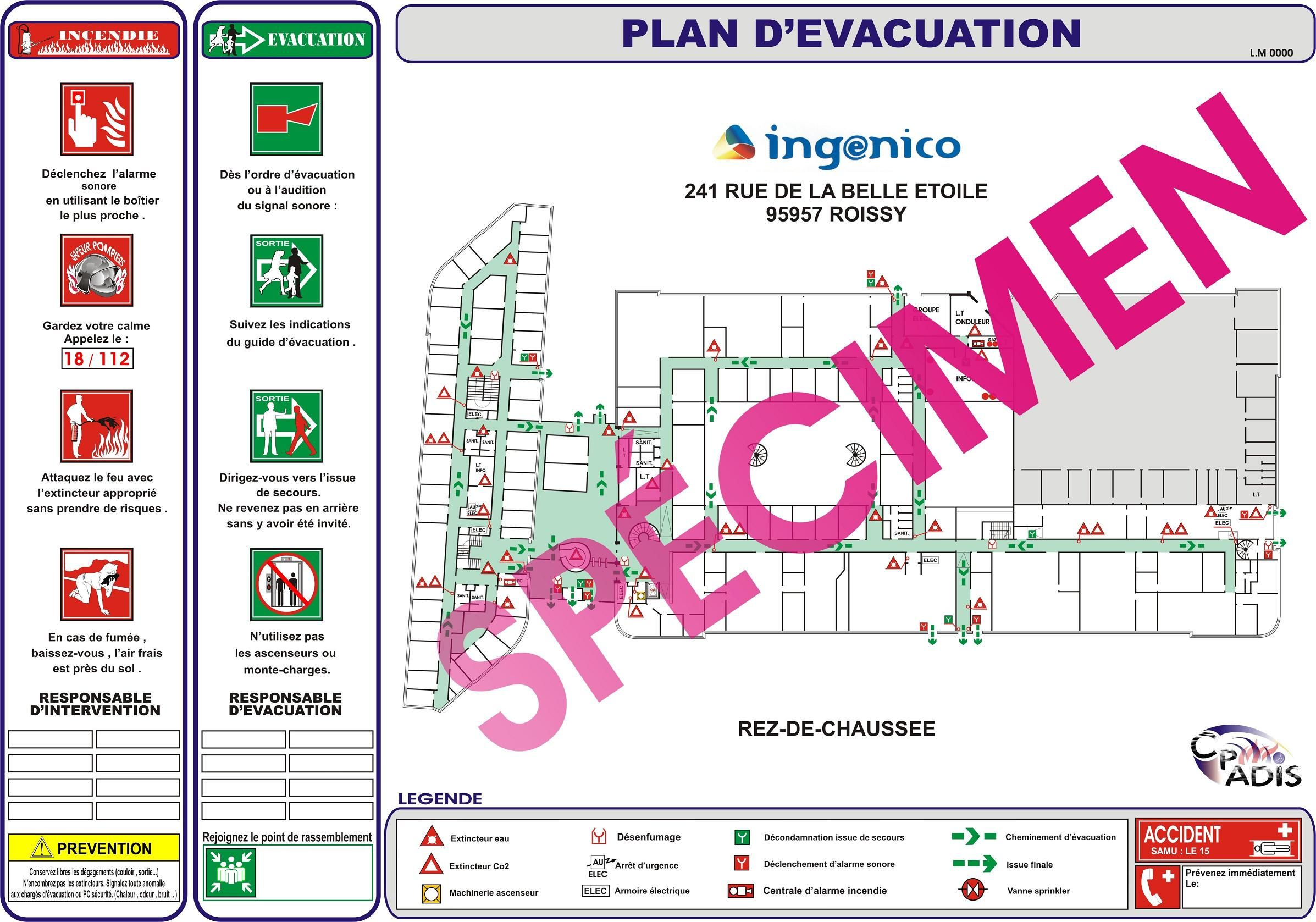 Evacuation Plan for Medical Office http://www.centerblog.net/societe/227338-1-plan-evacuation-erp-